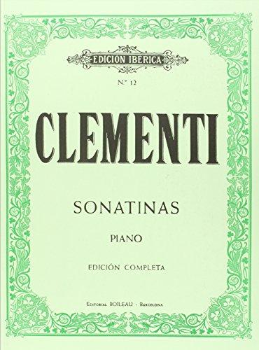 12 Sonatinas para piano, Op.36,37 y 38: Edición completa por Muzio Clementi
