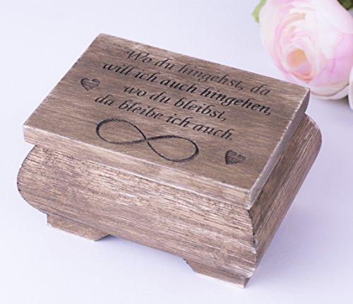 Ring-Box Ring-Schatulle Ring-Kästchen Ring-Kissen Eheringe Hochzeit Zeremonie (Zwei Herzen Hochzeit Ring Kissen)