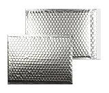 Farbige Luftpolstertaschen | Premium | 250 x 334 mm Silber (10 Stück) mit Abziehstreifen | Briefhüllen, Kuverts, Couverts, Umschläge mit 2 Jahren Zufriedenheitsgarantie