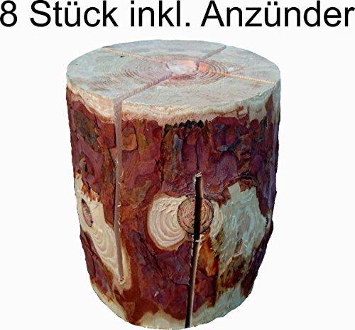 *8 Stück Schwedenfeuer Baumfackel Finnenfackel Gartenfackel Fackel Höhe = 19 cm Ø = 14-20 cm*