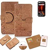 K-S-Trade 360° Cover cork Case for Caterpillar Cat S41
