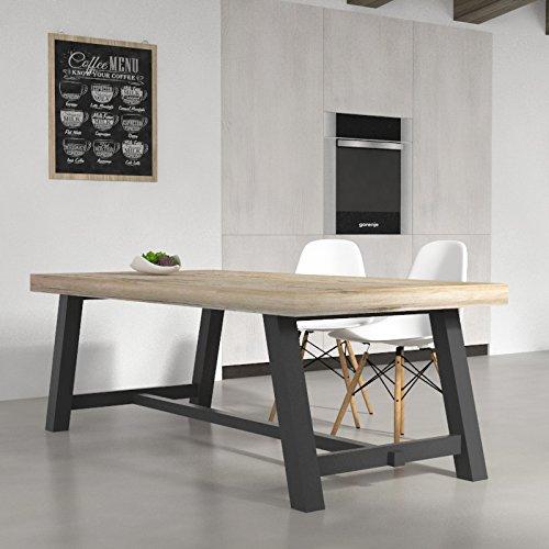 veca-italy-tavolo-da-cucina-clayton-in-legno-melaminico-200x100x71-cm-con-struttura-in-acciaio-in-di