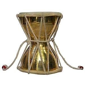 Percussion à main Laiton Damru Instrument de musique indien