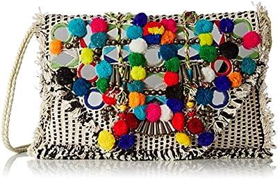 Antik Batik Udipi - Cartera de mano para mujer multicolor Multicolor (Multico) 1x23x33 cm (W x H x L)