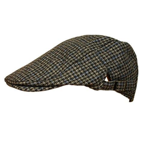 mens-tweed-flat-cap-with-adjustable-sizing-strap-smoke-check