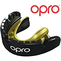 Opro Gold Level Mouthguard for Braces for Hockey, Rugby, Boxing, and Other Contact Sports - 18 Month Dental Warranty
