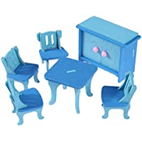 Mini DIY Musical Puppenhaus Miniatur Puppenhaus Möbel Kit w LED Licht A Häuser