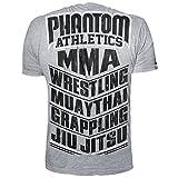 "Phantom Athletics T-Shirt ""MMA SPORTS"" - Gray-Large"
