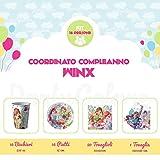 Kit Compleanno Winx per 16 Persone - Piatti, Bicchieri, Tovaglioli e Tovaglia