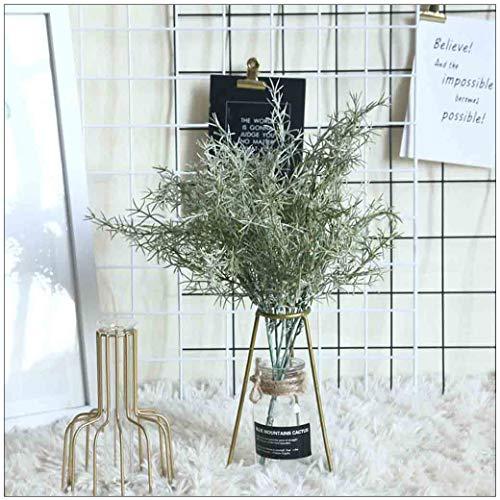 efernnadel Gras Eukalyptus Grüne Pflanze INS Stil künstliche Gefälschte Seidenblume Blatt Dekor für Mädchen Zimmer, Hochzeit, Haus, Party (A) ()