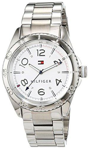 Tommy Hilfiger Watches - 1781639 - Montre Femme - Quartz Analogique - Cadran Blanc - Bracelet Acier Argent