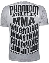 "'Phantom Athletics ""MMA Sports – Camiseta de – Gray – XX LARGE"