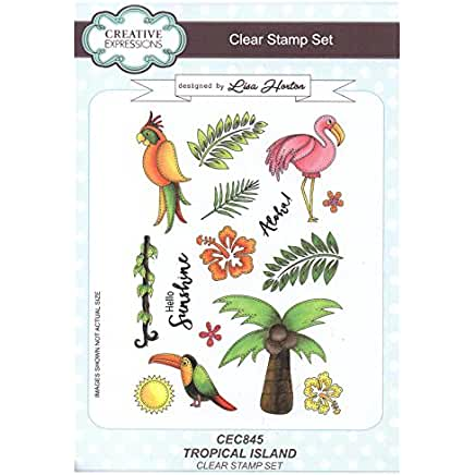 Creative Expressions Tropical Island stamp set