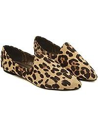 Un gran número de zapatos de mujer leopardo impresión plana zapatos planos  con una profundidad de 1e0fada57bf0c
