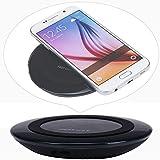 Transparentes Rundes Kabelloses Ladegerät,Sisit Qi-Ladegerät für Kabelloses Ladegerät für Samsung Galaxy S6 Edge Plus/HINWEIS 5 (Schwarz)