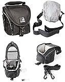 BODYGUARD 5 * Sac Noir- Convenable pour Nikon Coolpix L330 L340 L840 Canon Powershot...