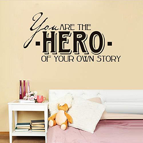Adesivi e murali da parete tu sei l'eroe della tua storia vita fai da te wall sticker per la camera dei bambini decorazione della casa carta da parati ragazzi camera da letto decorazione della parete