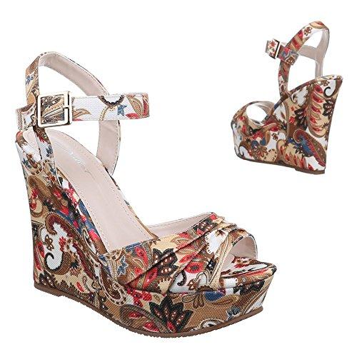 Ital-design - Sandali Donna Marrone (brun - Camel)