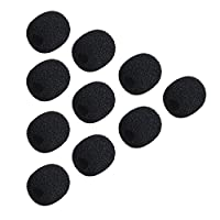 KKmoon Andoer Mini Lapel Headset Microphone Windscreen Mic Foam Cover Mic Foam Shield, 10 Packs