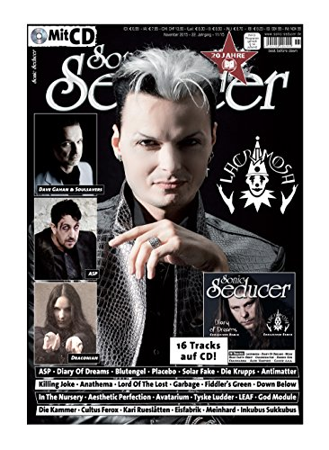 Sonic Seducer 11-2015 mit Lacrimosa-Titelstory + Gatefold-Titel: Dave Gahan & Soulsavers + CD mit exkl. Tracks von Lacrimosa und Diary Of Dreams + 14 weitere Songs, Bands: ASP, Blutengel u.v.m.