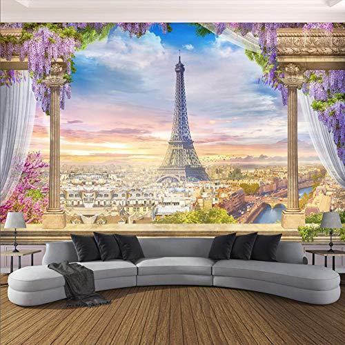 YunYiBZ Benutzerdefinierte Irgendeine Größe Fototapete 3D Stereo Rom Spalte Turm Wandbilder Restaurant Wohnzimmer Schlafzimmer Hintergrund Wanddekor 3 D,400cm(W) x280cm(H) -