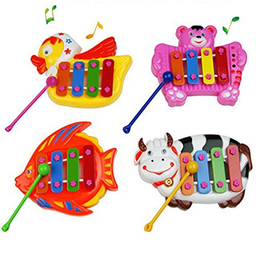 Musical Educational Animal Developmental Music Bell Toy 4 Tones for Kids Baby 51951H9PFUL