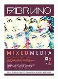 Fabriano Mixed Media - Carta per artisti, formato DIN A3, 40 fogli, 250 g/m2, adatta a tecniche di pittura bagnate e asciutte