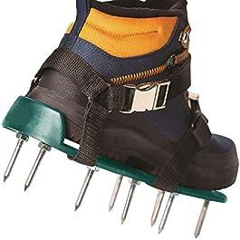 ABREOME Sandales Aérateur Pelouse Rouleau Aerateur de Pelouse Chaussure à Gazon, Chaussure à Gazon, Pelouse Ventilateur Scarificateur Gazon Scarificateur Gazon Ongles Chaussures