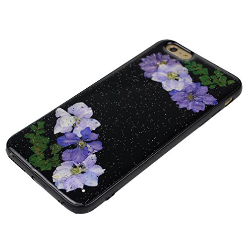 HuaForCity® iPhone 6s iPhone 6 Custodia TPU Soft Silicone Cassa Davvero Fiore Silicone Case Bumper Custodia Morbida Cover Ultra Sottile Custodia Flessibile Liscio Caso Anti Graffio Anti Scossa Anti Sc Flower-1