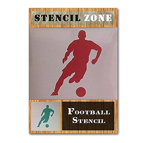 Joueur de football Running Sports Mylar aérographe Peinture murale Pochoir A6 Size Stencil - XXSmall