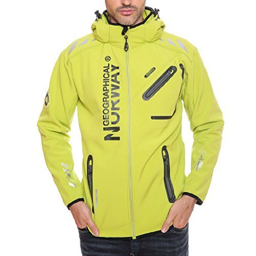 Geographical Norway Herren Softshell Jacke Rainmann Kiwi Gr.L