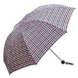 comehai Regenschirm automatische tragbare Reise Regenschirm Geschenktüte Trockenbeutel,UV-Schutz, stark wasserabweisend, dreifacher Regenschirm, Farbe7 95cm