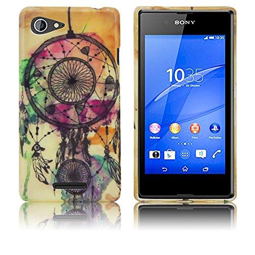 Sony Xperia E3 Silikon-Hülle Traumfänger weiche Tasche Cover Case Bumper Etui Flip smartphone handy backcover thematys®