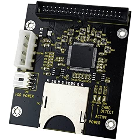 SD / SDHC / MMC per 3,5 pollici 40 Pin Maschi IDE Scheda adattatore (nero)