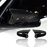 Le couvercle latéral de rechange de fibre de carbone couvre des chapeaux pour la voiture 2-pack