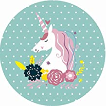 NEWSTARTS New Tassels Unicorn Microfiber Ronda Toallas de playa Diseño Beach Blanket verano (vistoso1)