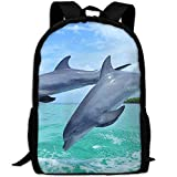 TRFashion Laptop Backpack Common Bottlenose Dolphin Computer Bag College School Backpack for Women and Men Sac à Dos Cartable