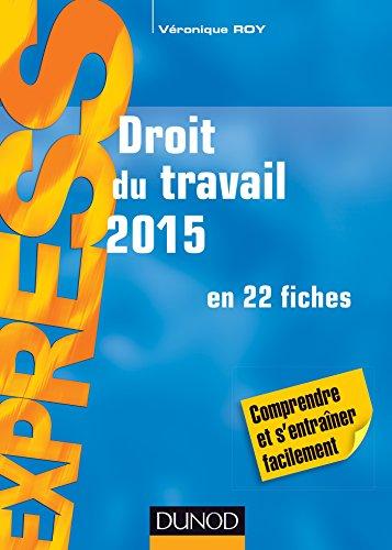 Droit du travail 2015-19e éd. - en 22 fiches par Véronique Roy
