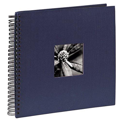 Preisvergleich Produktbild Hama Jumbo Fotoalbum (36 x 32 cm, 50 schwarze Seiten, 25 Blatt, Mit Ausschnitt für Bildeinschub, Fotobuch) blau