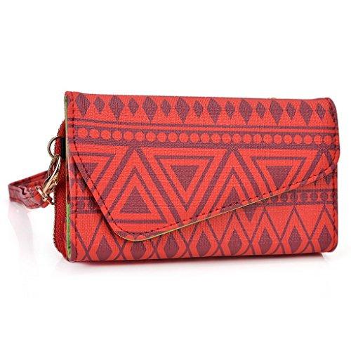Kroo Pochette/étui style tribal urbain pour Xolo q510s/A500s Lite Multicolore - jaune Multicolore - rouge