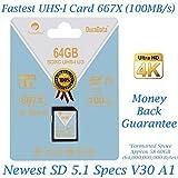 Amplim 64GB SDXC SD (classe 10UHS-I U3V30Extreme Pro) 64GB ultra...