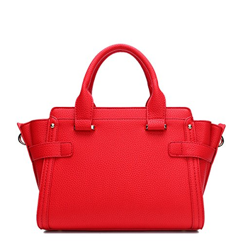 Leder Damen Paket Mode Litchi Muster Platin Tasche Hand Kuriertasche Red