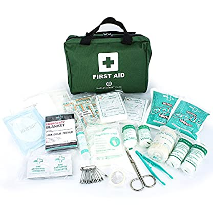 103 Pieces Harley Street Care Professional First Aid/Emergency Kit. Comprehensive, Compact & Durable for Health & Safety, Includes Eye Wash, Cold Packs, Emergency Blanket for Home, Car, Work, Travel 4