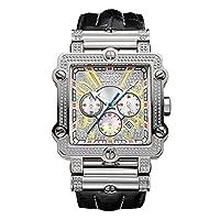 ساعة فانتوم 238 لوكسوري الماس كرونوغراف من جيه بي دبليو أسود\فضي