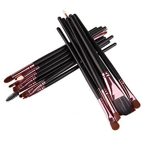 Beauty7 Set 20 PCS Brosse Pinceaux de Maquillage pour Poudres, Anti Cernes, Contours, Fonds de Teints, Melanges et Eyeliner Fondation Concealer Creme Cosmetique Professional
