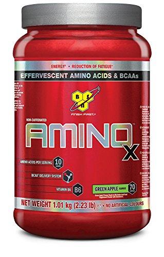 BSN Supplemento Nutrizionale Amino X, 70 Srv, Green Apple Multi-Lingual - 1820 gr