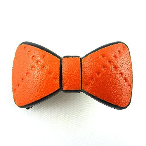 rougecaramel - Accessoires cheveux - Mini pince cheveux fantaisie forme noeud - orange