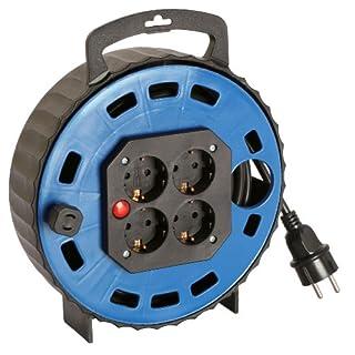 as - Schwabe Kunststoff-KabelBox TBS, blau 5 m H05VV-F 3G1.5, schwarz, IP20 Innenbereich, 16305