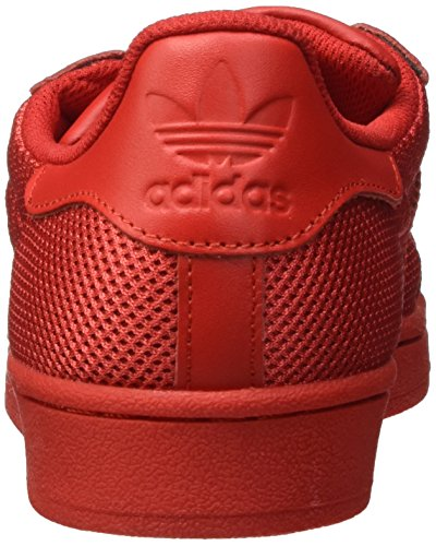 adidas Herren Superstar Sneakers, Rot (Collegiate Red/Collegiate Red/Collegiate Red), 43 1/3 EU -