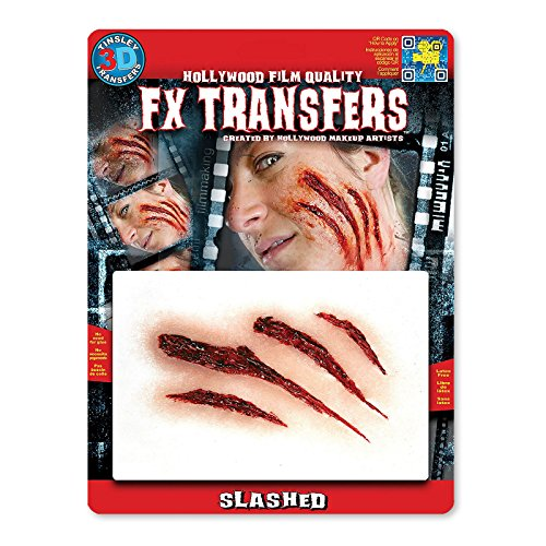 Aufgeschlitzt Klaue Mark Fake Scar FX (Halloween Up Make Werwolf)
